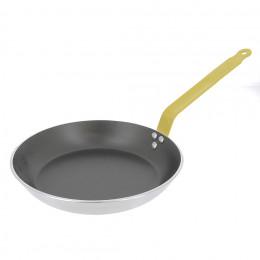 Poêle ronde anti-adhésive HACCP CHOC - Queue feuillard jaune