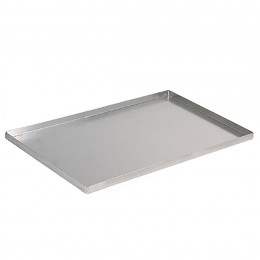 Baking tray straight edges