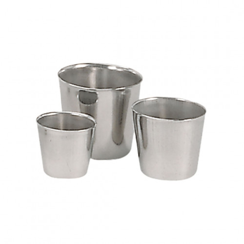Conical Dariole mould, stainless steel