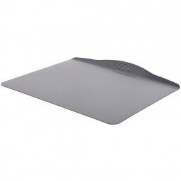 Oven tray with insulating double wall, non-stick steel