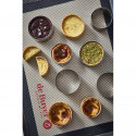 Round tart ring Ht 3,5 cm VALRHONA, perforated stainless steel