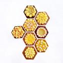Cercle à tarte hexagonal VALRHONA, inox perforé Ht 2 cm