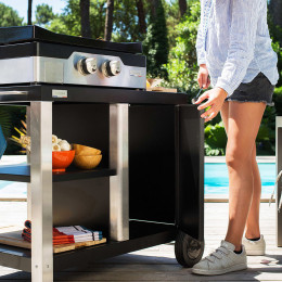 Service table for outdoor cooking DE BUYER x LE MARQUIER
