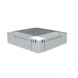 Pastry frame expandable, stainless steel