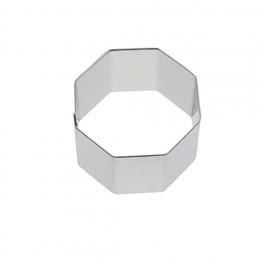 Cercle à pâtisserie inox, hexagonal Ht 4 cm