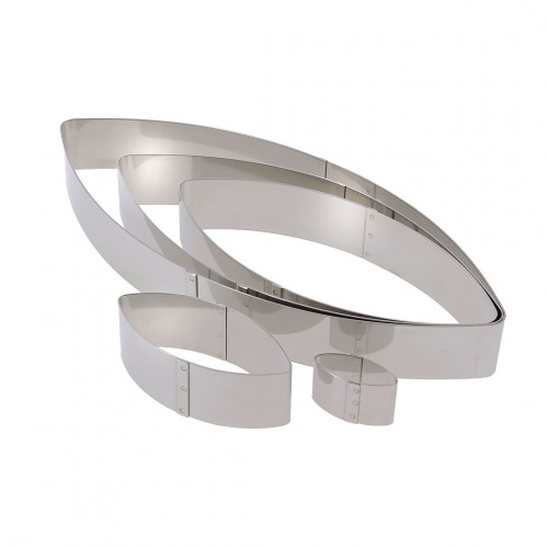Ring, stainless steel, calisson Ht 4 cm