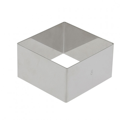 ST. STEEL SQUARE RING HT 4.5cm