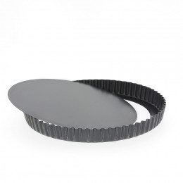 Fluted tart mould removable bottom, steel