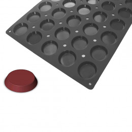 Tray 40 Florentine round cakes MOUL FLEX PRO, silicone