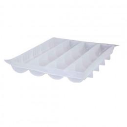 Plaque 4 gouttières à bûche demi-rondes MOUL FLEX PRO, silicone transparent