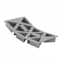Plaque 10 triangles ELASTOMOULE, mousse de silicone