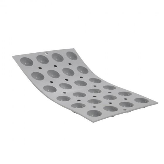 Tray hemispherical mini moulds ELASTOMOULE, silicone foam