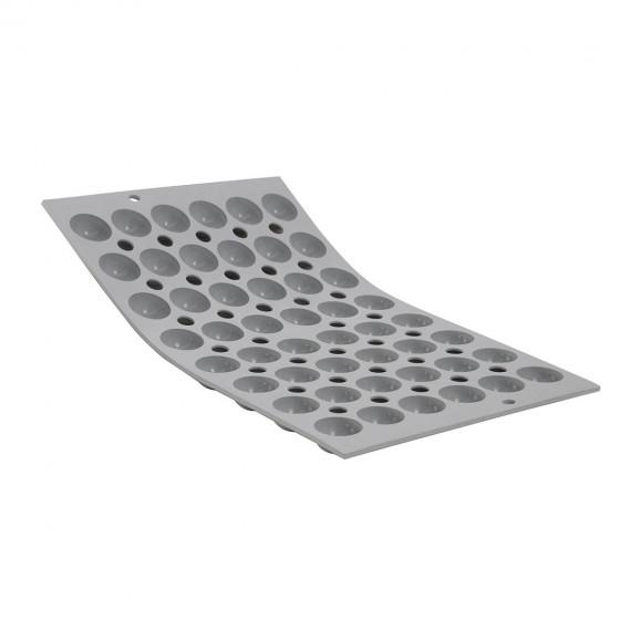 Plaque 48 mini demi-sphères fond plat ELASTOMOULE, mousse de silicone