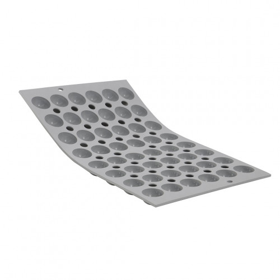 Tray 48 hemispherical mini moulds flat bottom ELASTOMOULE, silicone foam