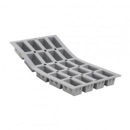 Tray 20 mini rectangular cakes ELASTOMOULE, silicone foam