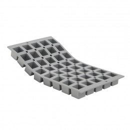 Tray 40 mini cubes 2,5 cm ELASTOMOULE, silicone foam