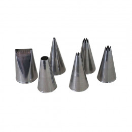 SET OF 6 DIFFERENT ST. STEEL NOZZLES
