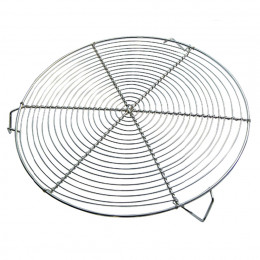 ROUND ST STEEL GRID WITH 3 FEET Ø 28