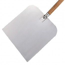 Square pizza oven peel, wooden handle