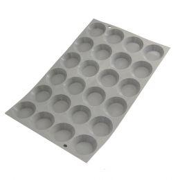 Tray mini tartlets ø 4,5 cm ELASTOMOULE, silicone foam