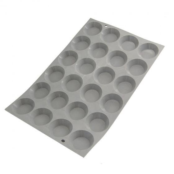 Plaque mini tartelettes ø 4,5cm ELASTOMOULE, mousse de silicone