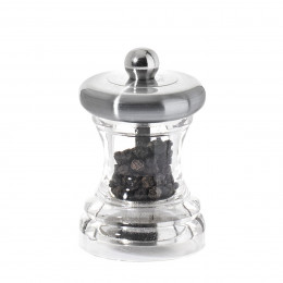Pepper mill stainless steel and transparent acrylic 7 cm VOLTE