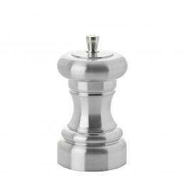 Moulin à sel acrylique aspect inox 10 cm ZUMBA