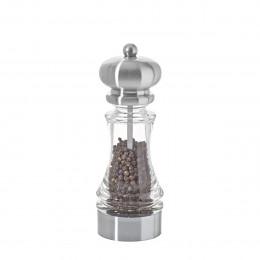 Moulin universal à sel, poivre, épices acrylique transparent et aspect inox 18 cm SAMBA