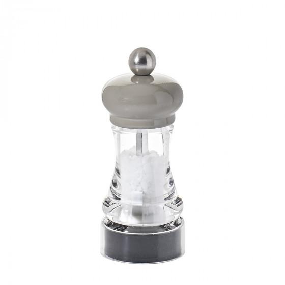 Salt mill wood and transparent acrylic 11 cm HIP HOP