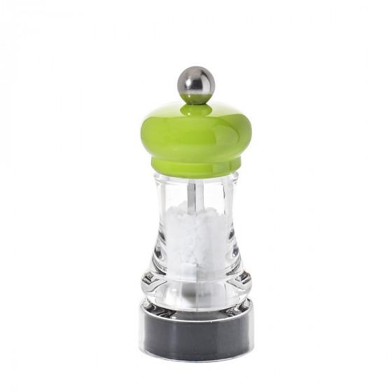 Moulin à sel bois et acrylique transparent 11 cm HIP HOP