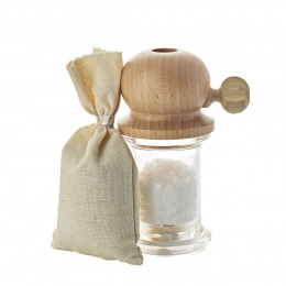Corse sea salt mill wood 12 cm PITOULEE