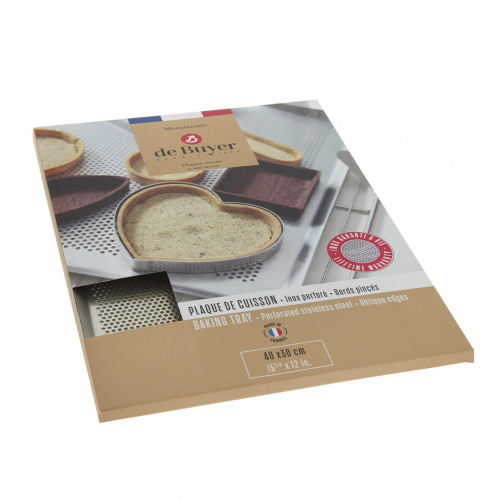 Perforated stainless steel tray